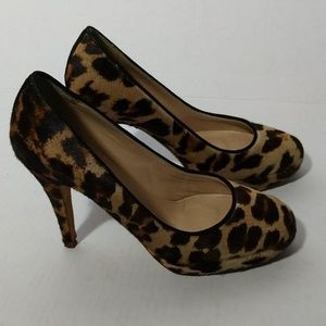 J.Crew Pia Calf Hair Vint Sand Pumps  Leather Sz 6
